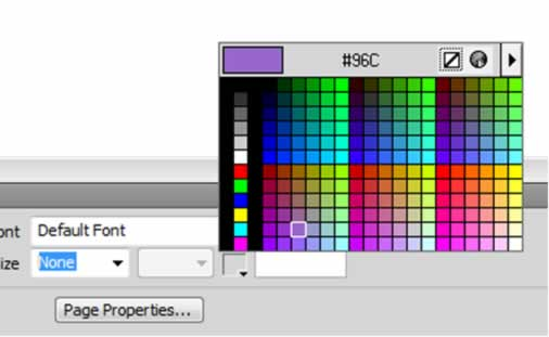 Dreamweaver Colour Picker