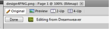 Fireworks to Dreamweaver Integration
