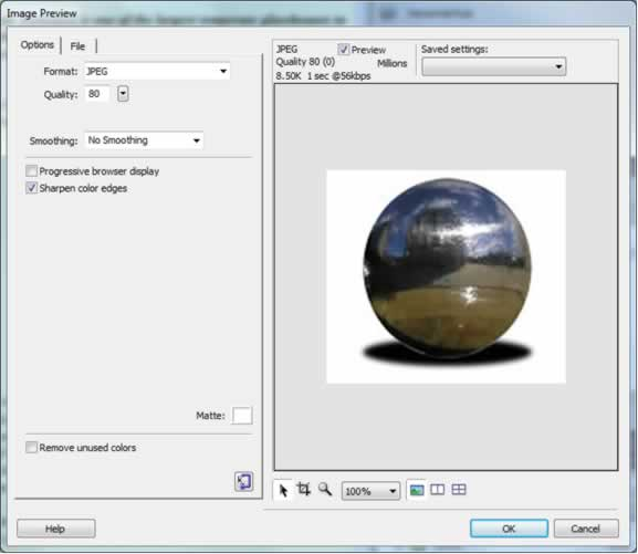 Image Preview - Image Editing in Dreamweaver