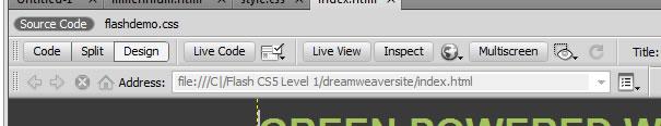 Dreamweaver Live View