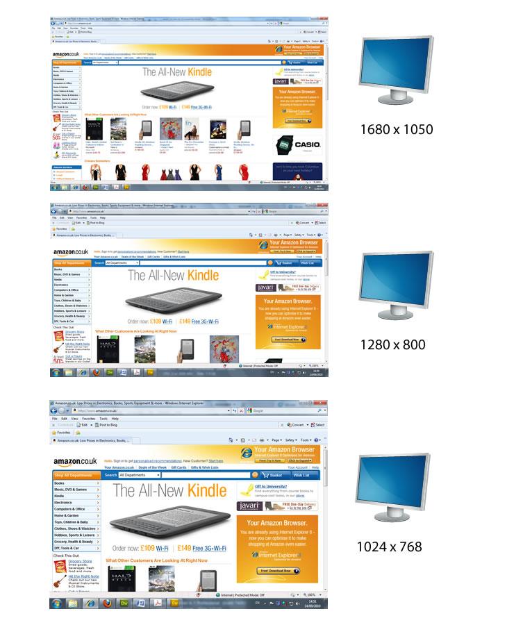 Fluid layout screen shots