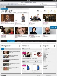 BBC Portrait on iPad